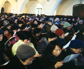 Chinese church congregation
